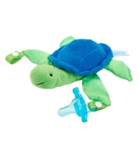 DRB AC049-P6 : Turtle Lovey with Blue One-Piece Pacifier