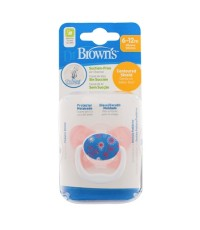 Dr.Brown\'s : DRBPV21304-SPX จุกหลอก PreVent BUTTERFLY SHIELD Pacifier, Stage 2 * 6-12M - Pink, 1pk.