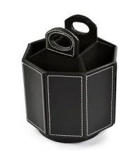 Cosmos : CSM001* ที่ใส่ปากกา Black Color PU Leather 360 Degrees Rotatable Organizer
