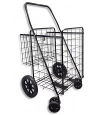 WellMax : WMXWM99017S* รถเข็นใส่ของ Folding Shopping Cart Double Basket