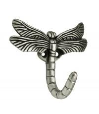 A Brainerd : BRNB46145Y* อุปกรณ์แต่งบ้าน Dragonfly Hook, Brushed Satin Pewter