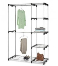WTM 6779-3044* : A Whitmor Double Rod Freestanding Closet with Steel and Resin Frame