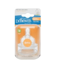 DRB 382-GBX : Level 3 Silicone Wide-Neck \quot;Options\quot; Nipple, 2pk.