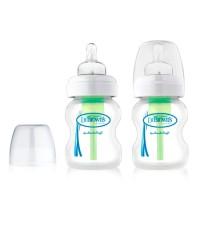 DRB WB52005 : 5 oz / 150 ml PP Wide-Neck \quot;Options\quot; Baby Bottle, 2-Pack