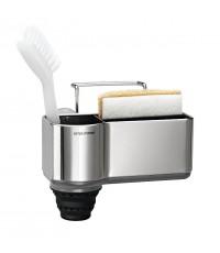 simplehuman : SPHKT1116* ที่เก็บอุปกรณ์ Sink Caddy, Brushed Stainless Steel