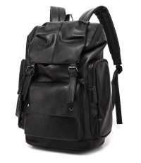 BAOSHA : BOS5518118* เป้สะพายหลัง BP-16 PU Leather OVERSIZED Casual Backpack