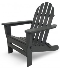 POLYWOOD : PLWAD5030GY* เก้าอี้สนาม Classic Folding Adirondack, Slate Grey