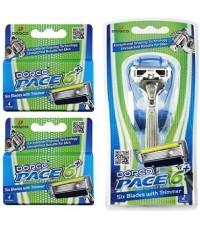DORCO : DRCAMZ002* ชุดโกนหนวด Pace 6 Plus Value Pack (10 Cartridges + 1 Handle)