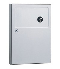 Bobrick : BRKB-254* ฝาครอบถังขยะ Stainless Steel Surface Mounted Sanitary