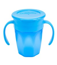 Dr.Brown\'s : DRBTC71004 ถ้วยหัดดื่ม Cheers 360 Cup w/Handles, 7oz. Blue