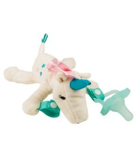 Dr.Brown\'s : DRBAC136 จุกหลอก Unicorn Lovey w/Aqua One-Piece Pacifier