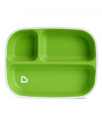 Munchkin : MNK21175 จานใส่อาหาร Splash Divided Plate Green