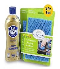 BAR KEEPERS : BKF11600WSC* ชุดน้ำยาทำความสะอาด FRIEND Soft Cleanser with Scrubber Cloth