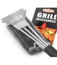 GRILLART : GLLAMZ001* แปรงทำความสะอาดเตาย่าง Grill Brush and Scraper