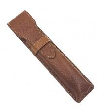 Parker Safety Razor : PRKAMZ001* ซองใส่มีดโกน Leather Saddle Brown Protective