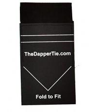 TheDapper : TDTAMZ001* ผ้าเช็ดหน้าจำลอง Tie Men\'s Solid Flat Double Toned