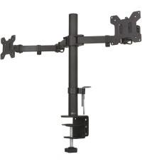 WALI : WALM002* อุปกรณ์ยึดจอมอนิเตอร์ Dual LCD Monitor Fully Adjustable Desk Mount Stand