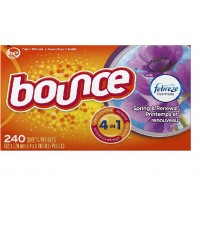 Bounce : BOU0003* แผ่นหอมปรับผ้านุ่ม Fabric Softener and Dryer Sheets Spring  Renewal 240 Count