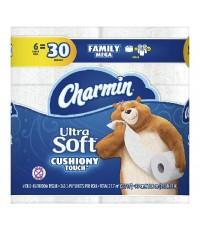 Charmin : CRMAMZ001* กระดาษชำระ Ultra Soft Cushiony Touch Paper 6 Rolls