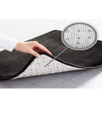 Genteele : GTLBM-BLK* พรมเช็ดเท้า Memory Foam Bath Mat 17\quot; X 24\quot;, Black