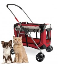 PetLuv : PTL767-90334-89 รถเข็นสัตว์เลี้ยง Happy Pet Cat  Dog