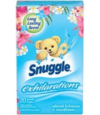 Snuggle : SGLIHR-70* แผ่นหอมปรับผ้านุ่ม Exhilarations Fabric Conditioner Dryer Sheets Island Hibiscu