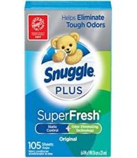Snuggle : SGLORG-105* แผ่นหอมปรับผ้านุ่ม Plus Super Fresh Fabric Softener Dryer Sheets 105 Count