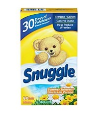 Snuggle : SGLSMS-80* แผ่นหอมปรับผ้านุ่ม Fabric Softener Dryer Sheets Summer Showers 80 Count
