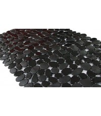 SONGZIMING : SZM50344* เสื่อกันลื่น Non-Slip Pebble Bathtub Mat Black 16 W x 35 L Inches