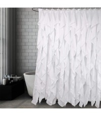 Volens : VOLSCL-WHE* ม่านอาบน้ำ Ruffle Shower Curtain White 72x72 inch