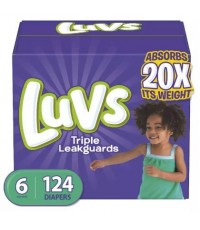 Luvs : LUVS6-124* ผ้าอ้อมสำเร็จรูป Ultra Leakguards Disposable Baby Diapers Size 6, 124 Count
