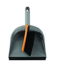 Casabella : CSB56366* อุปกรณ์ทำความสะอาด Dustpan and Brush Set, Graphite/Orange