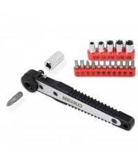 Neiko : NEK03043A* ชุดไขควง Neiko Dual-Drive Head Mini Ratchet Wrench Screwdriver Bit 17 Piece