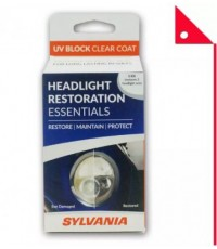 SYLVANIA  : SVNHRKUVB น้ำยาทำความสะอาดกระจกไฟรถยนต์  SYLVANIA Headlight Restoration UV Block Clear C