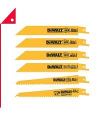 DEWALT : DWTDW4856* ใบเลื่อย Reciprocating Saw Blades 6pk.