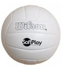 Wilson : WLSWTH3500* ลูกวอลเลย์บอล Soft and Super Soft Play Volleyball, White