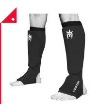 Meister : MST 1063CSGBKSM* สนับแข้ง MMA Elastic Cloth Shin  Instep Padded Guards (Pair)