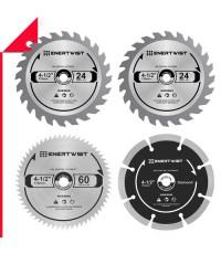 Enertwist : ENTET-CSA-4* ชุดใบเลื่อยวงเดือน Compact Circular Saw Blade Set,  4-1/2 Inch.
