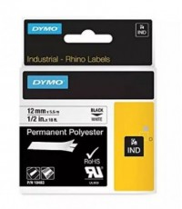 DYMO : DYM18483* สติ๊กเกอร์พิมพ์ฉลาก Permanent Adhesive Fabric Label Tape 1/2 Inch.