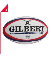 Gilbert : GIB41026905* ลูกรักบี้ Photon Match Rugby Ball, Navy/Scarlet - Size 5