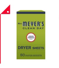 Mrs. Meyer's  : MMY 14248* แผ่นอบผ้า Clean Day Dryer Sheets, Lemon 80 Count
