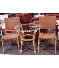 ชุดเก้าอี้หวายพร้อมโต๊ะ