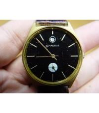 นาฬิกา Sandoz Swiss made ระบบไขลาน เรือนทองใช้งานได้ปกติ
