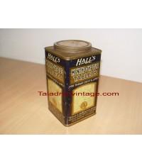 กระป๋องฮอลล์ รุ่นหายากอายุ67ปี Halls Mentho-lyptus Vintage สภาพสวยมาก