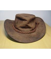 หมวกคาวบอย Cowboy Hat Wild West หนังแท้ สภาพเก่าตามอายุ แต่ไม่ขาด