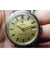 นาฬิกา Roamer Searock ระบบไขลานมีวันที่ Swiss made ใช้งานได้ปกติ