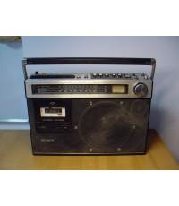 วิทยุหูหิ้ว SONY CF-490S ใช้งานได้เสียงดี มีเบส Woofer 8 นิ้ว