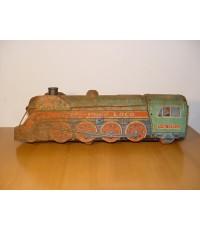 รถไฟของเล่นโบราณ งานสังกะสี