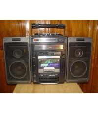 วิทยุ-เทป บูมบ๊อก HITACHI TRK-9140W ใช้งานได้ปกติทุกระบบ