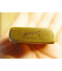 Vintage ไฟแช็ค Zippo Bradford PA U.S.A. ทองเหลือง ท้ายมน ใช้งานได้ปกติ